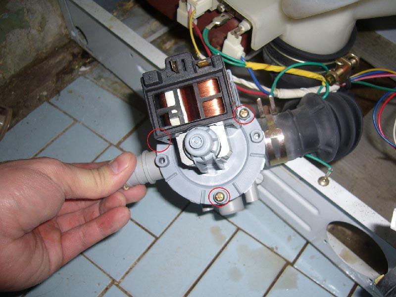 Ремонт насос для стиральной машины